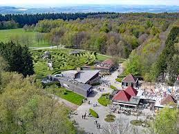 vue aérienne du site des Trois Frontières