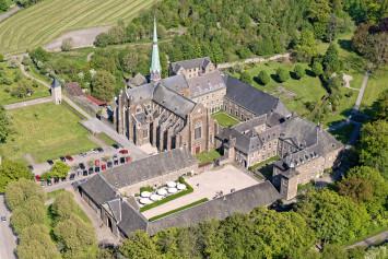 vue aérienne abbaye
