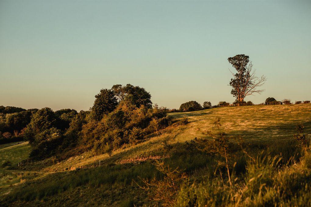 colline coucher de soleil