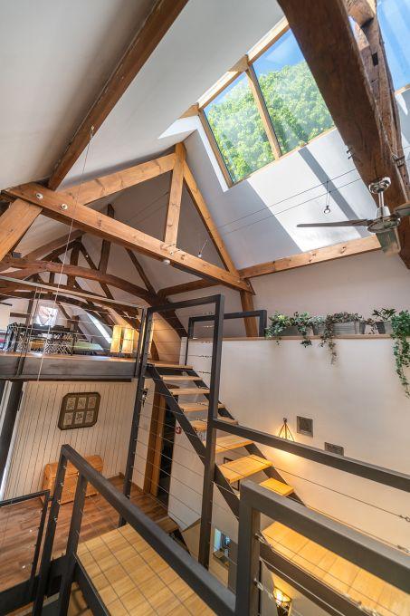 Palier escalier et verrière