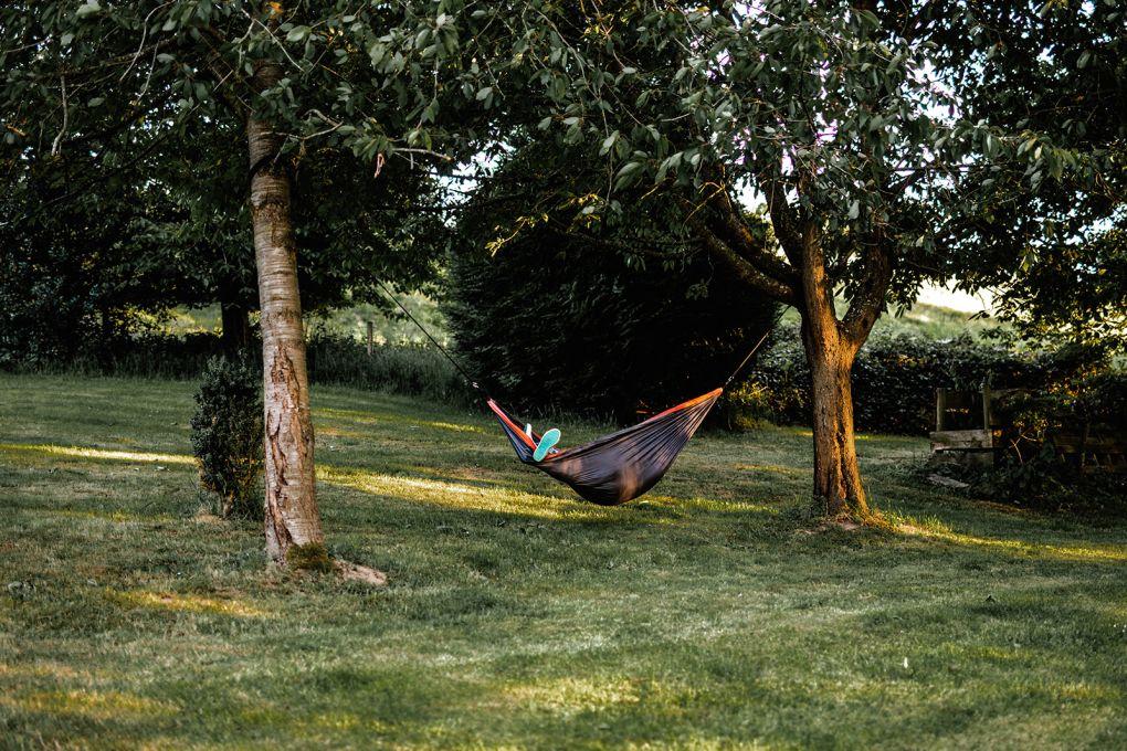 hamac dans jardin